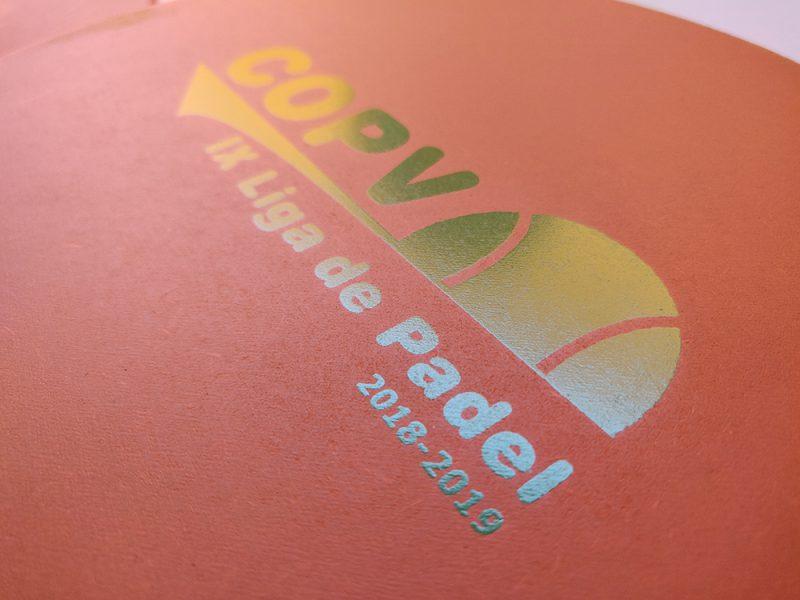 Serigrafía de palas de playa para la Liga de Pádel 2019