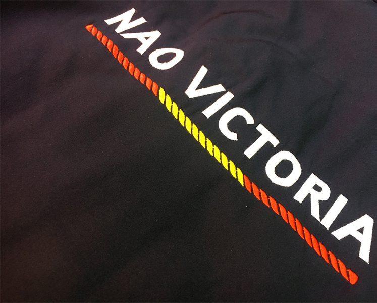 Personalización de prendas para Fundación Nao Victoria