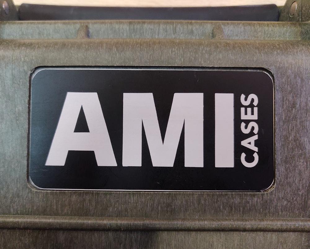 Placas de aluminio serigrafiadas para AMI Cases