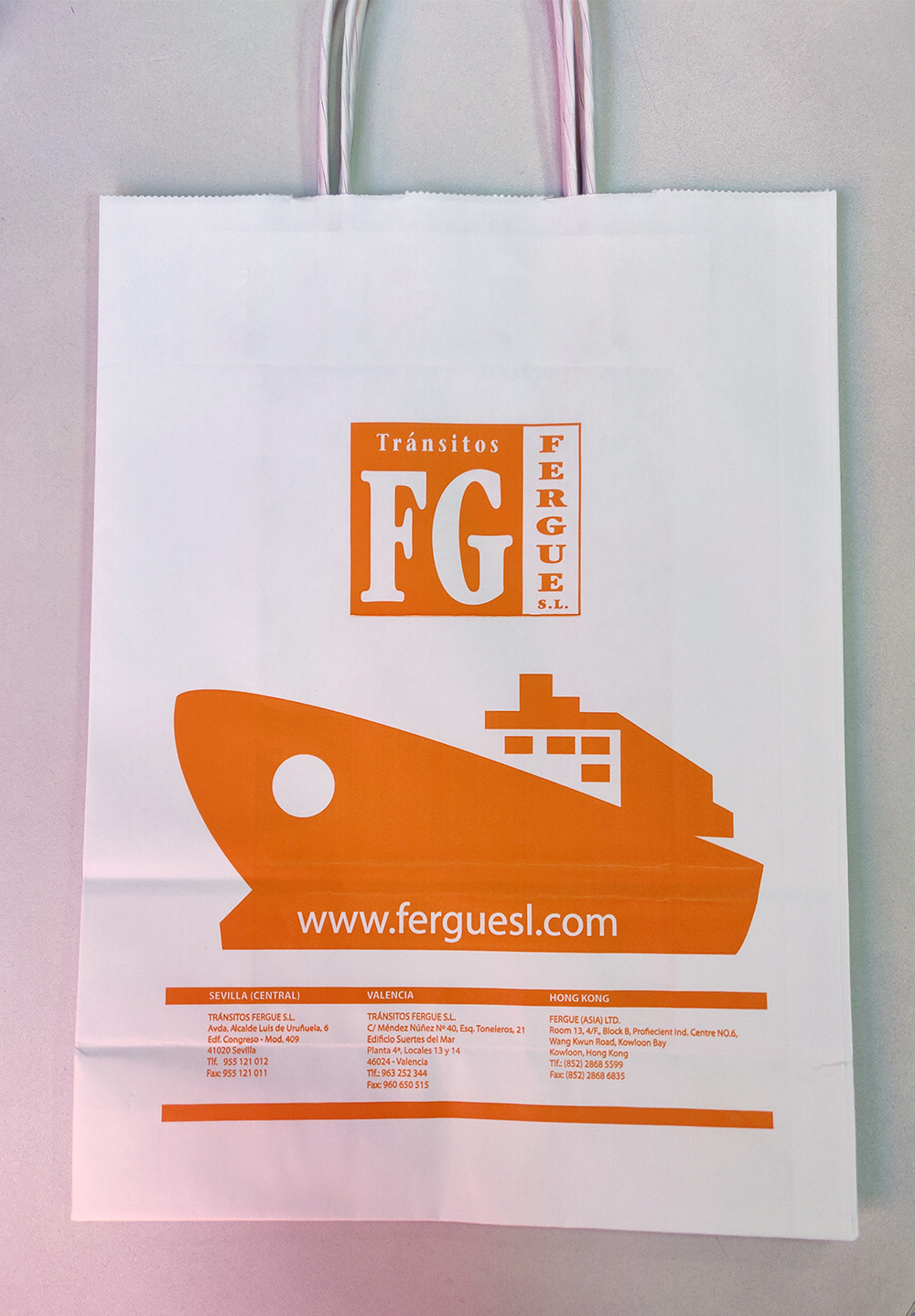 Bolsas serigrafiadas para Tránsitos Fergue