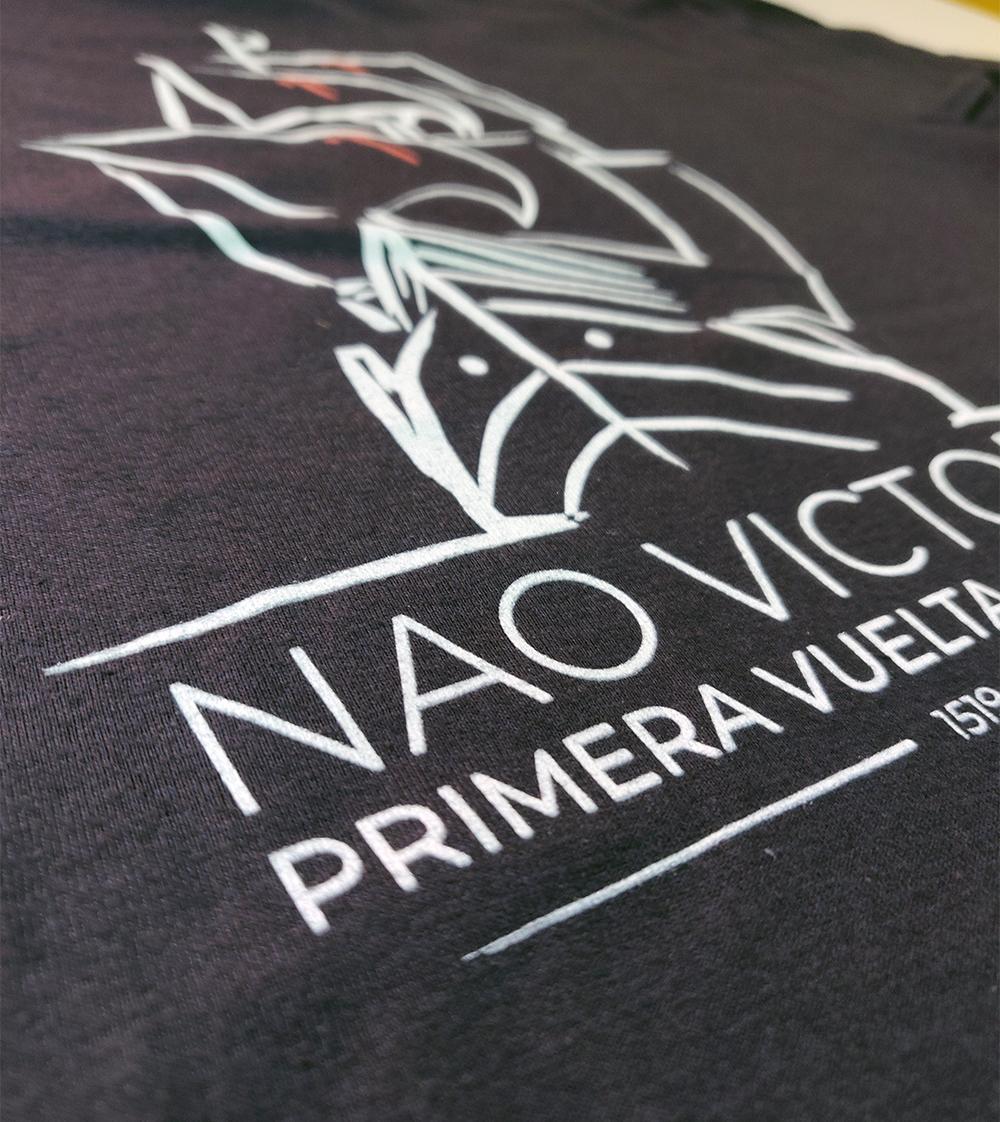Serigrafía de camisetas para Fundación Nao Victoria